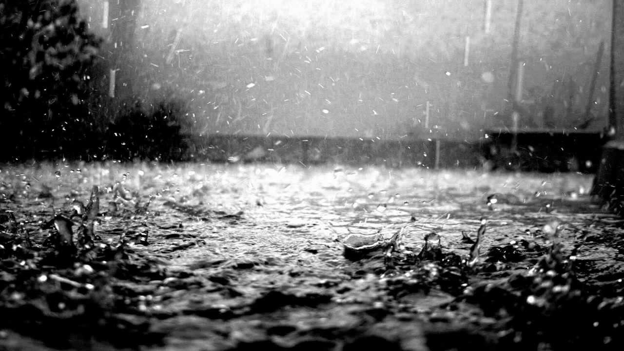 Mientras caía la lluvia