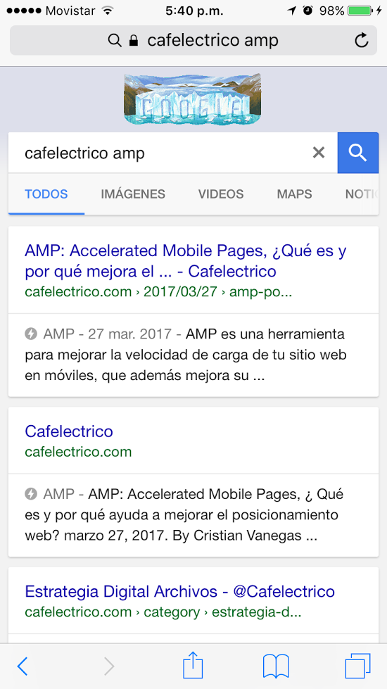 AMP ejemplo