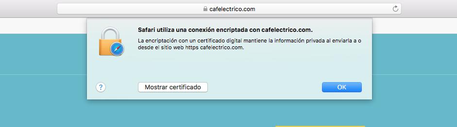 Certificado de Seguridad Cafelectrico