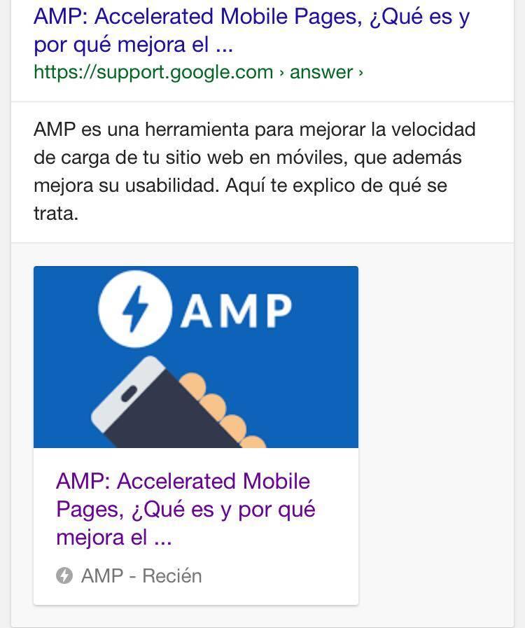 Ejemplo de Rich Card. Así sale si haz hecho una pregunta al buscador y Google te elige como una fuente confiable para responder.