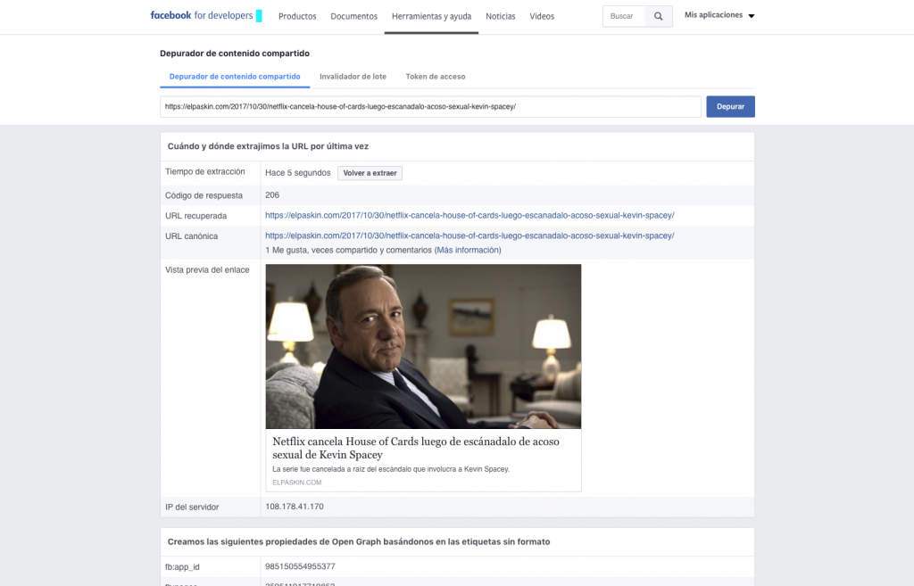 Facebook Debugger 3