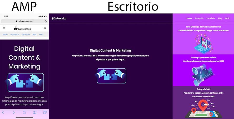 Optimizar un sitio web para móviles y escritorio
