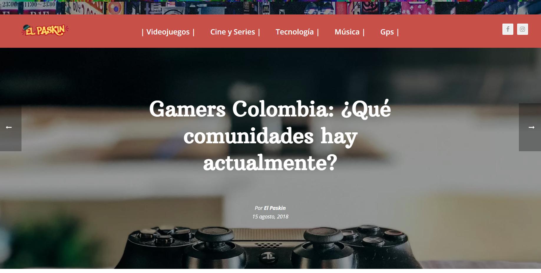 1.1. Artículo: Comunidades Gamer Colombia